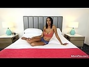 Husband Blows Up Phone While Tall Ebony MILF Wife Fucks Young Mom Pov Stud HD