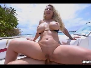 Fat Ass Blonde MILF fucked in public