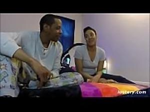 Ebony Amateur Couple Getting it On