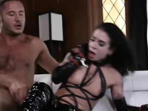 Danny Mountain BDSM in black dress socks couch fucking
