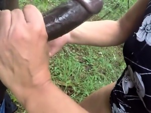bbc throatfuck in wood part-3