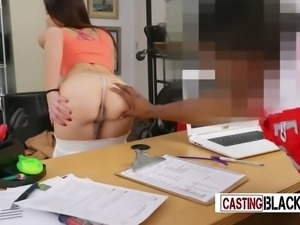 Rose tattoo chick gets her tight coochie expanded by directors bbc