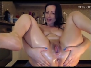 Hot mommy with huge dildo! beautiful 2019