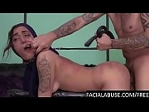 Hard doggy &amp_ water torture for Arab cunt