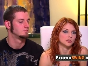 Redhead couple is ready to embark on swinger adventure