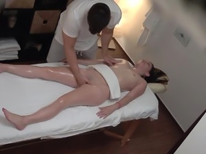 Teen Beauty Fucks the Masseur
