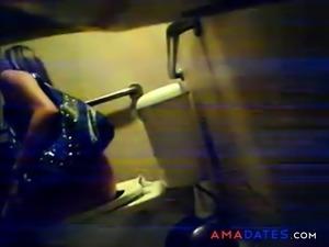 Hidden Cam Captures Women on the Toilet