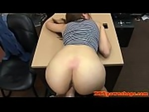 Heeled pawnshop amateur riding for cash