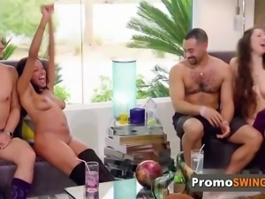 Jess and john get naked as they meet and greet with other couples