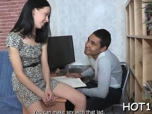 Divine young russian gf Misha gets awarded with sex