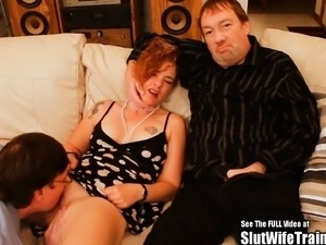 Creampie Eater Suckold Hubby Wife Fucked