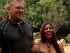 Trish and Jp join other horny couples for pre party foreplay
