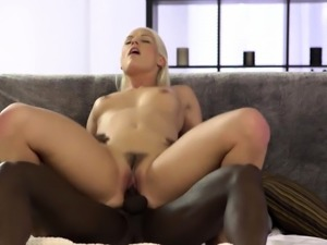 Horny girl finds out that big cock is better than vibrator