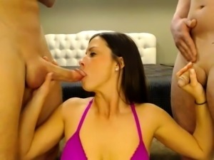 Sex hungry threesome do it suck fuck and lick