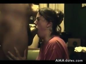 Bitch Choking on black cock