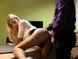LOAN4K. All natural blonde solves all her problems spreading