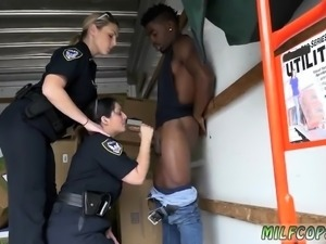 Chubby russian milf and jerks Black suspect taken on a harsh