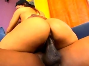 Hardcore interracial porn with one oily ass