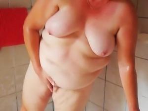 Yvonne shower masturbation