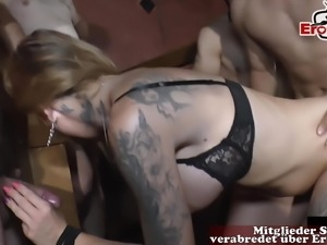 German moms piss in mouth and cum inside pussy groupsex orgy