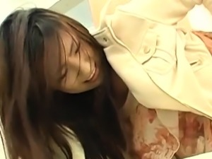Sausage wants to be inside sassy asian cutie 's slit