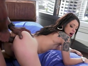 Holly Hendrix Sucks & Fucks a Massive Black Cock - Anal -