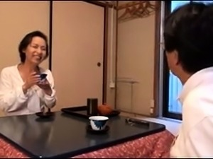 Mature Japanese lady seduces a guy to fulfill her desires
