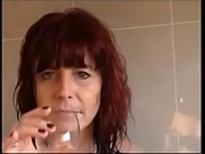 horny milf love to fuck in bathroom