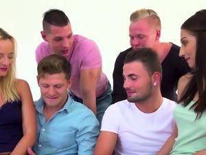 Bi dudes orgy fucking