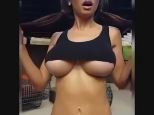 Big boobs jumping