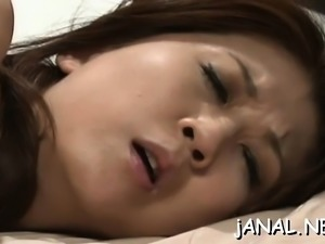 Tasty eastern maid Nanako Yoshioka flirts and gets licked