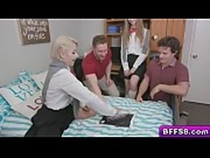 Goldie Glock, Nova Skies, and Lana Sharapova having a little shindig in the dorm