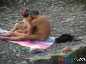 Groping on the beach
