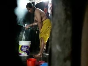 Bengali bathing scene 3