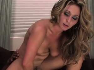 Busty babe fucks with a black guy