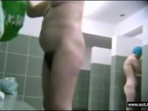 Ordinary moms sharing public shower