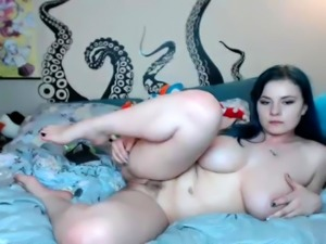Sexy busty amateur student dancing