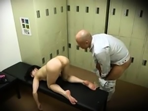 Pretty Oriental babes getting fucked hard in the locker room