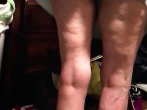 Voyeuring Rose mature ass in panties