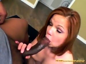 Phoebe sucking huge black cock